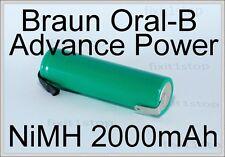 NEW NiMH Battery Braun Oral-B Advance Power Toothbrush Repair