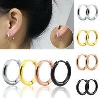 1pc Round Titanium Steel Earrings Women Man Unisex Earrings Jewelry Accessories#