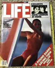 1981 Life Magazine February - John Lennon Yoko Ono Beatles - Wind Surfing