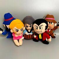 """1992 Lupin III 5set Monkey punch 7"""" Plush doll Banpresto rare anime japan"""