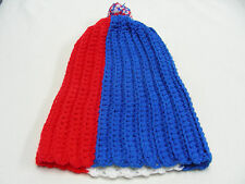 rouge blanc et bleu - Taille Unique - Bas casquette bonnet
