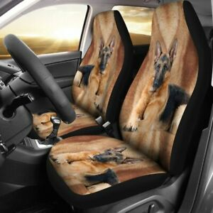 German Shepherd Dog Print Car Seat Covers