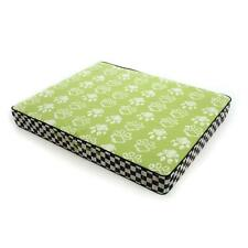 New Mackenzie Childs Courtly Check Bow Wow Pet Dog Bed Smallgreen Sold Out!
