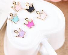 12pcs princess color Crow Metal Charms pendants DIY Jewellery Making crafts 12mm