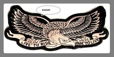 """LIVE TO RIDE RIDE TO LIVE EAGLE - JACKET VEST BACK PATCH - IRON OR SEW   9"""" X 4"""""""