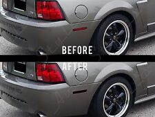 1999-2004 Ford Mustang GT Smoked Side Markers Tint Overlay Kit REAR