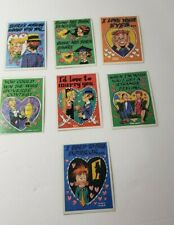 T.C.G. Topps Vintage Funny Valentine trading Cards Lot of 7 Preowned 1950/60s?