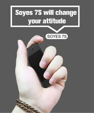 """Unlocked Smallest Android SmartPhone Soyes 7S 2.4"""" TouchScreen Dual Sim Rose Gol"""