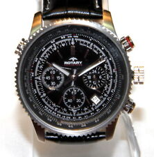 Rotary Men's Chronograph Aquaspeed GS00100/04 Black Leather Swiss Quartz Watch