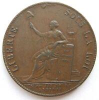 TOP! FRANKREICH Monneron de 2 Sols 1791 in fast VORZÜGLICH SELTEN !!!