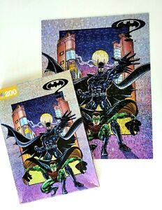 VTG 1995 Batman & Robin MB Jigsaw Puzzle 200 Pcs. Batman Forever 4432-1 COMPLETE