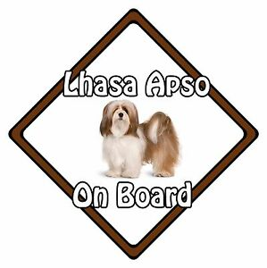 Non Personalised Dog On Board Car Safety Sign - Lhasa Apso On Board