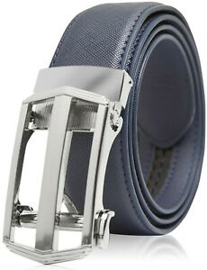 Bonded Leather Belt Mens Ratchet Dress Belts With Adjustable Automatic Buckle