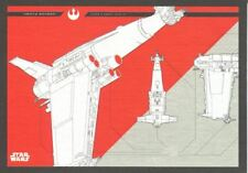 Star Wars Journey To The Last Jedi Blueprints Chase Card #7 Heavy Bomber