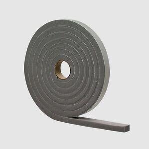 "02311 M-D Gray Foam WEATHER STRIP TAPE Adhesive Draft Gap Seal 1/2""x 3/4"" x 10'"