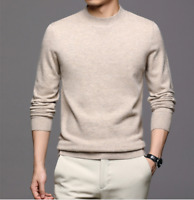 4Xl Men Cashmere Knitted Crew Neck Sweater Long Sleeve Thick Pullover Warm Hot