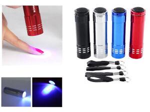 Mini LED UV Gel Lamp Light Nail Dryer Flashlight Torch For Nail Polish Manicure