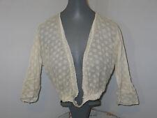 Lovely Romantic Antique Edwardian~Net Lace Mixed Lace Blouse~Jacket