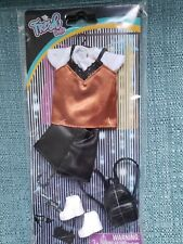 The Fresh Dolls Fashion Pack, Faux Leather Shorts,Top, Sneakers, Backpack, New