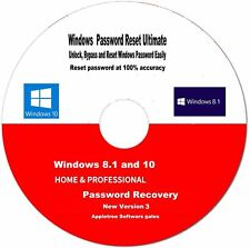 Password Finder &  Reset & Recovery  8.1 & 10 Software  Boot CD-- New 2018