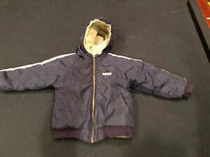 ADIDAS Little Boy Winter Jacket Coat ~ Size 4 ~ Reversible