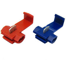 New 50Pcs Red Blue Snap On Connector Crimp Terminal Lock Quick Splice