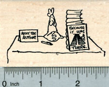 Chicken Book Signing Rubber Stamp, Why did he cross the road J31821 WM