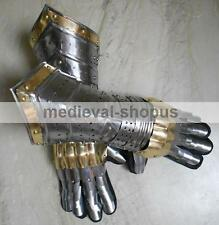 Medieval Knight Gloves Functional Armor Steel Gauntlet Sca Armour Larp Gauntlets