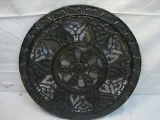 Antique 1901 Pat Round Cast Iron Architectural Floor Grate Heat Vent Louver