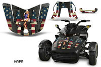 Hood Graphics Kit Decal Sticker Wrap For Can-Am F3-S Spyder Roadster WW2 BOMBER