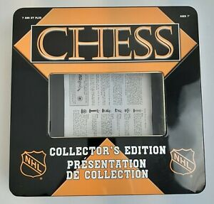 NHL Hockey Collectors Edition Chess Set Hand Crafted & Painted Rare Used 2003