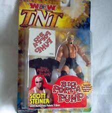 WCW TNT Scott  Steiner  Figur + Zubehör  ca. 18 cm  Wrestling---Neu,OVP,RAR