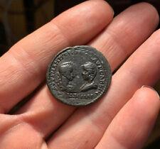 GORDIAN III & TRANQUILLINA Ancient Roman Coin AE MOESIA 241-244AD SERAPIS 10.8g