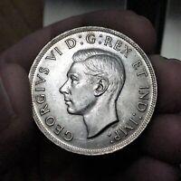 1937 Canada Dollar Coin, Silver, KM# 37, George VI, UNCIRCULATED