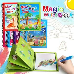 Mess Free Painting Magic Water Books Reusable Colouring Book Art Stocking Filler