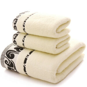 Soft towel, 100% cotton, strong water absorption, bathroom towel, 3-piece set