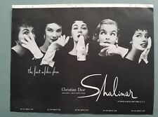 1954 vintage Christian Dior creation Shalimar women's gloves vintage fashion ad