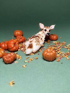 OOAK Realistic ~fawn ~cat  Dollhouse Handmade IGMA ARTISAN
