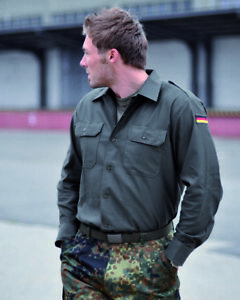 Original Bundeswehr Feldhemd BW Feldbluse Hemd Bluse Diensthemd Oliv 35/36-49/50