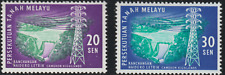 (15)MALAYSIA MALAYA FED 1963 CAMERON HYDRO-ELECTRIC SET 2V FRESH MNH. CAT RM 12