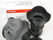 Canon zoom lens EF 16-35 mm 1:2,8 L II USM + Geli Lens Hood ew-88 + Sac + BOX