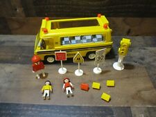 Vintage playmobile school bus & accessories not complete # 3170