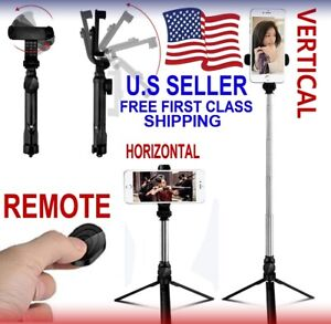 Selfie Stick Stand Tripod Bluetooth Remote For iPhone Samsung android smartphone