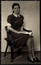 Foto-Stuttgart-Portrait-Frau-Kleid-Cute-German-Woman-Girl-Lady-Dress-um 1930