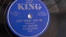Tiny Bradshaw - 78rpm single 10-inch – KING #4713 Overflow