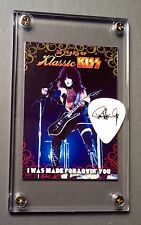 KISS Paul Stanley black on white tour guitar pick / Ikons card display #53!!!
