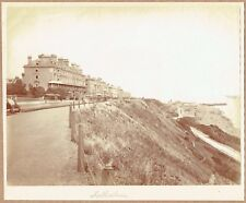 Street scene, Folkestone, Kent. Original 1880s Albumen Photograph.