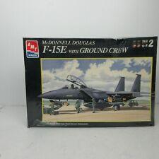 AMT ERTL 1:72 McDonnell Douglas F-15 E w/ Ground Crew Aircraft Model Kit #30070U