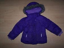 CHEROKEE Girls Hooded Purple Winter Jacket Size 2T