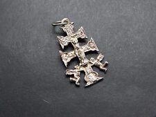Ciondolo In Argento 2 Croce Angelo Jesús María